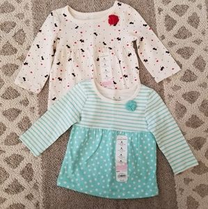 Jumping Beans 2 Shirts Set Infant Girls 6 Months
